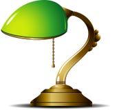 Lampe verte Photographie stock