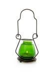 Lampe verte de bougie image stock