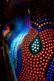 Lampe von einem Kürbis stockbilder