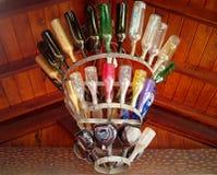 Lampe von Flaschen Lizenzfreie Stockfotografie