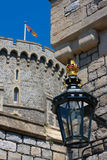 Lampe an Windsor Schloss Stockfotografie