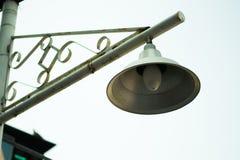 Lampe zur Tageszeit Stockbild
