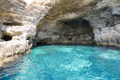 Lampedusa cavern. Cavern in Lampedusa, Sicily, Italy stock photos