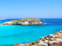 Lampedusa island Stock Image