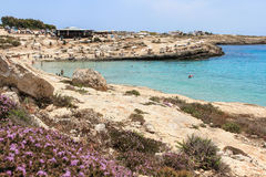 Lampedusa island, Mediterranean Sea royalty free stock photography