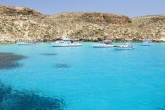 Lampedusa, Italy. Coast of Lampedusa, Sicily, Italy stock photography