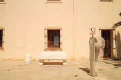 Public phone in the street stock image