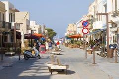Lampedusa, Italy. Via Roma street, Lampedusa, Italy royalty free stock images