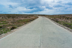 Lampedusa road Royalty Free Stock Photo