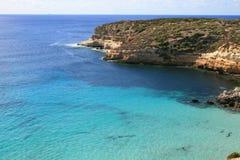 Lampedusa (Sicilia) - isola dei conigli immagine stock libera da diritti