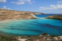 Lampedusa (Sicilia) - isola dei conigli fotografia stock