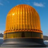 Lampeggiante, luce arancio del becon Immagine Stock
