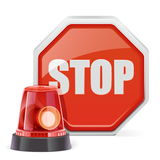 Lampeggiatore di vettore con il segno Fotografia Stock Libera da Diritti