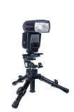 Lampeggiatore elettronico con il mini treppiede Fotografie Stock Libere da Diritti