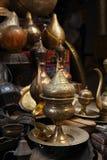 Lampen, ambachten, herinneringen in straatwinkel in Kaïro, Egypte Royalty-vrije Stock Foto's
