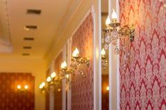 Lampen auf der Wand Lizenzfreie Stockbilder