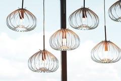 Lampen-Befestigungs-Reihe Stockbilder