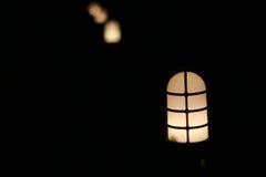 Lampen-Beleuchten Stockfoto