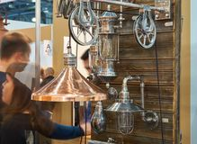 Lampen bij tentoonstelling Royalty-vrije Stock Foto