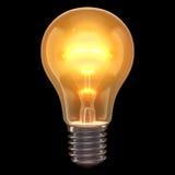 Lampen-Brand-Schwarz-Hintergrund Stockbild