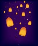 Lampen in de hemel Stock Afbeelding