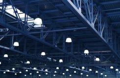 Lampen. De ontwerpen van het metaal Stock Afbeelding
