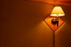 Lampen in de slaapkamer Royalty-vrije Stock Foto's
