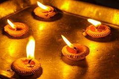 Lampen en kaarsen Stock Fotografie