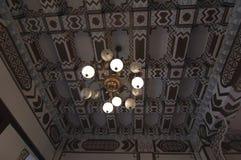 Lampen en Plafond van het erfenis het de Chinese Herenhuis Royalty-vrije Stock Fotografie