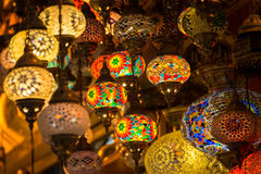 Lampen am großartigen Basar Lizenzfreie Stockbilder