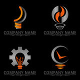 Lampen-Ideen-Konzept-Logo Stockfoto