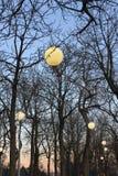 Lampen im Park in Prag Lizenzfreies Stockfoto