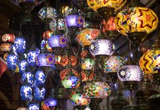 Lampen in Istanbul lizenzfreie stockfotografie