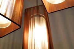 Lampen met Bruine Schaduwen stock afbeelding