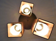 Lampen met Bruine Schaduwen Royalty-vrije Stock Foto