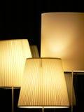 Lampen mit glatter Leuchte Lizenzfreie Stockfotos