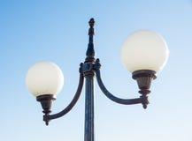 Lampen op de waterkant in Pomorie, Bulgarije Stock Foto