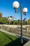 Lampen op de waterkant in Pomorie in Bulgarije Stock Afbeeldingen