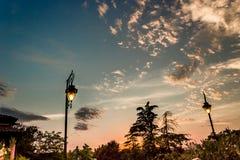 Lampen op groene mening Royalty-vrije Stock Foto