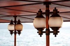 Lampen op het dek Stock Fotografie