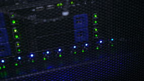 Lampen op Motherboard server iterface stock footage