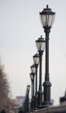 Lampen um den Hudson auf Manhattan Lizenzfreie Stockfotografie