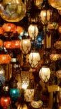 Lampen van Istanboel Stock Fotografie