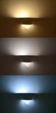 Lampenapplikation, drei verschiedene Farbtemperaturen lizenzfreie stockfotos