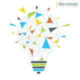Lampenideen-Konzeptgrau Stockbild
