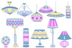 Lampenkrabbels Royalty-vrije Stock Afbeeldingen