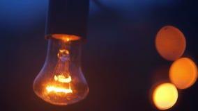 Lampenlichtdesign dekorativ stock footage