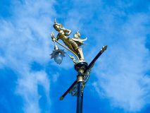 Lampenskulptur-halbvogelhalbfrau Lizenzfreies Stockbild
