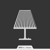 Lampentischplatteikone für Netz und Mobile Stockbild