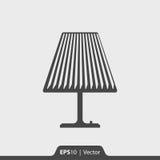 Lampentischplatteikone für Netz und Mobile Stockfotografie